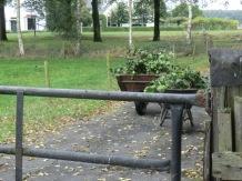 kruiwagens met tuinafval