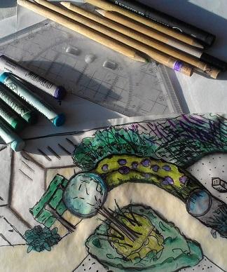 Werkwijze tekenen met stift en krijt