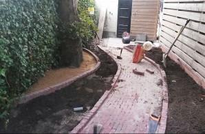 Smalle tuin dag 2 aanleg